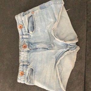 Heart on back Jean shorts